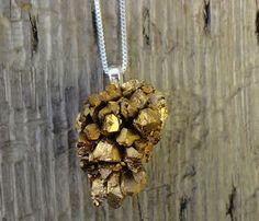 Druzy Geode Rock Necklace