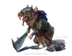 ArtStation - Common Baddie Rat! , Gabriel Ramos