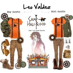Leo Valdez boy/girl outfits                                                                                                                                                                                 More