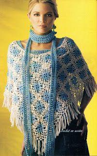 Crochet En Acción: capas/ponchos/estolas