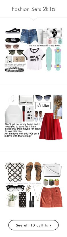 """""""Fashion Sets 2k16"""" by ally-cat888 ❤ liked on Polyvore featuring Vans, H&M, Topshop, Casetify, philosophy, Shiseido, Korres, Gucci, Ray-Ban and Accessorize"""