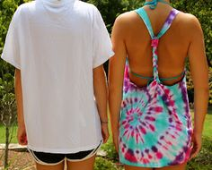 Adventures of a Middle Sister: DIY Tie-Dye Swimsuit Cover-up