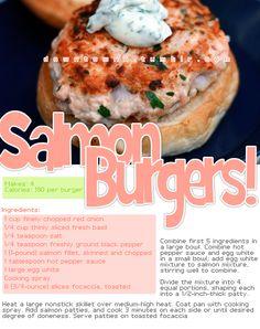 Salmon Burgers!