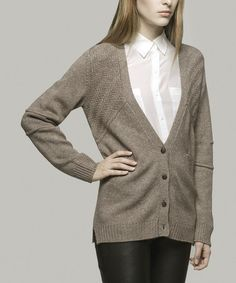 Another great find on #zulily! Mushroom Paige Wool-Blend Cardigan - Women by Yoon #zulilyfinds