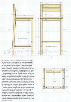 DIY Bar Stools - Furniture Plans