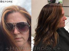 #hairmakeover #fallhair #balayage #beautifulbrowns #longlayers #Hairbybrookeashley