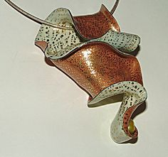 Copper and cream ribbon pendant | Flickr - Photo Sharing!