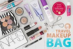 What's in My Travel Makeup Bag #travel #holiday #makeupbag #whatsinmymakeupbag #summer #SS15