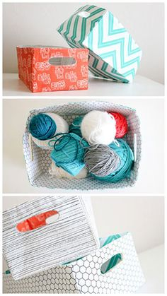 Tutorial: Reversible Fabric Baskets