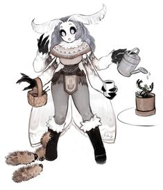 "fiship: ""Everyone seems to like her, and I do too! Her name is Mother Lumi and she loves to take care of struggling arctic woolly bear caterpillars. If you like my stuff. Fantasy Character Design, Character Design Inspiration, Character Concept, Character Art, Concept Art, Fantasy Creatures, Mythical Creatures, Creature Design, Furry Art"