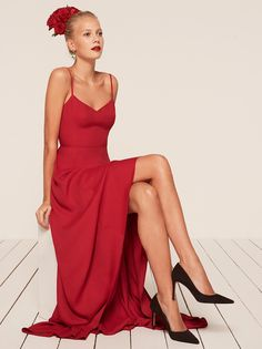 Sorrento maxi dress cherry red Reformation