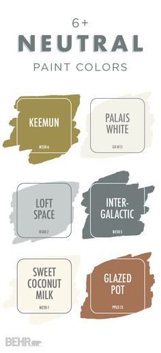 Excellent Create a warm and cozy space in your home with a little help from this neutral color palette. Based on BEHR 2018 Color Trends, this collection of paint colors is the perfect source of in . Wall Colors, House Colors, Paint Colours, Accent Colors, Western Paint Colors, Foyer Colors, Interior Paint Colors, Interior Design, Interior Decorating