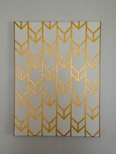 Metallic Chevron Print