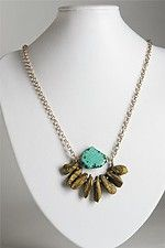 We love this spring jewelry with raw rock and gemstones.
