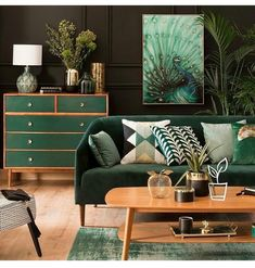 Deep green interior