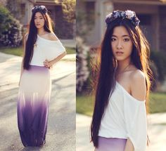 Flower crown & ombre dress