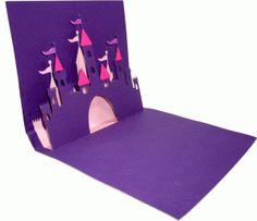 Silhouette Design Store - View Design #75133: castle pop-up card