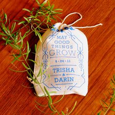 Eco Favor Boho Chic Vintage Inspired Wedding Seed Bombs - Personalized DIY Guerrilla Gardening Flowers. so cute!!!!