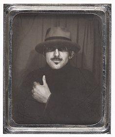 Ansel Adams. photobooth self portrait 1936