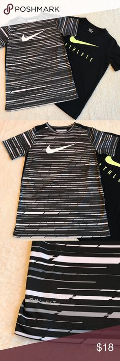 Bundle of 2 boys Nike shirts Both size large gray and black one like new condition. Black one has small pick on front as shown in last pic Nike Shirts & Tops Tees - Short Sleeve