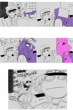 Haha. Vincent isn't purple anymore!!