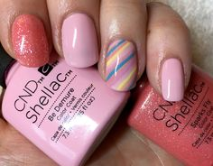 CND shellac Be Demure & Sparks fly