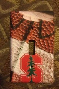 Christmas Gift Free Shipping Stanford Cardinals Football Light Switch Cover | eBay