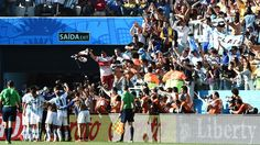 El Gallo de Moron presente en el festejo argentino....Argentina 1 Suiza 0 .......... Gol de Di Maria..... en tiempo suplementario..... 1 julio de 2014.. octavos de final..  Estadio Arena Corinthias ... San Pablo.. Brasil.