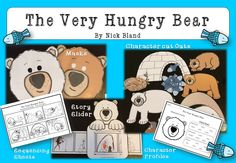 The Very Hungry Bear by Nick Bland - Story Retell Pack Comprehension Activities, Kindergarten Activities, Book Activities, Learning Resources, Teacher Resources, School Resources, The Very Cranky Bear, Story Retell, Teaching English Grammar
