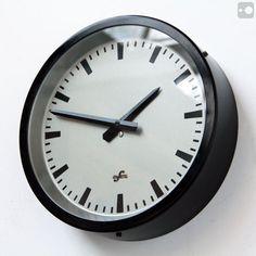 Industrial clock by Elfema, Leipzig, Communist East Germany, 1950s.