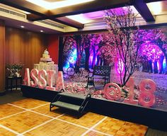 A beautiful stage for the debutant. - Assia A beautiful stage for the debutant. 18th Debut Theme, 18th Debut Ideas, Debut Themes, Debut Stage Decoration, Debut Decorations, Birthday Decorations, Debut Backdrop, Backdrop Event, Stage Backdrops