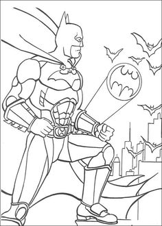 coloring page batsignal - Drawing And Colouring For Kids