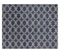 Scroll Tile Rug - Indigo Blue #potterybarn