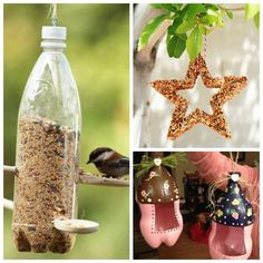 18 totally awesome bird feeder crafts for kids. I love the Lego bird feeder! Diy And Crafts Sewing, Crafts For Girls, Crafts To Sell, Diy Crafts, Bird Feeder Craft, Bird Feeders, Craft Wedding, Craft Videos, Kids Videos