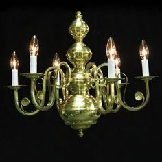 Weinstock Illuminations 24-In 6-Light Polished Brass Williamsburg Cand Candle Chandelier, Chandeliers, Polished Brass, Ceiling Lights, Lighting, Decor, Transitional Chandeliers, Decoration, Chandelier