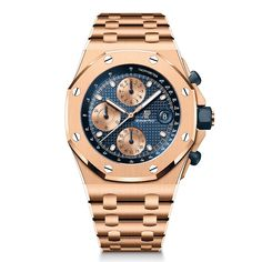 Audemars Piguet - Royal Oak Offshore Chronograph 42 mm, 2021 Editions | Time and Watches | The watch blog Royal Oak Offshore Chronograph, Watch Blog, Audemars Piguet Royal Oak, Metal Bracelets, Sport Watches, Gold Watch, Pink And Gold, Rolex Watches, Accessories