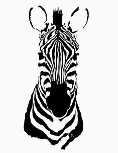 Ali Viana Te: Animales Monocromáticos Animal Stencil, Stencil Art, Art Sketches, Art Drawings, Zebra Tattoos, Zebra Art, Zebra Painting, Art Du Croquis, Art Prints For Home