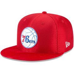 buy online dd66f d4cb2 Men s Philadelphia 76ers New Era Red NBA On-Court Original Fit 9FIFTY  Adjustable Hat
