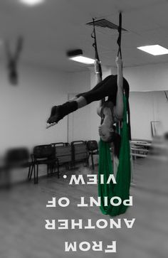 From another point of view.  #aerial #antigravity #fly #aero #aerialsling #perspective #aeriallovers #love