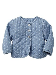 Gap quilted denim jacket