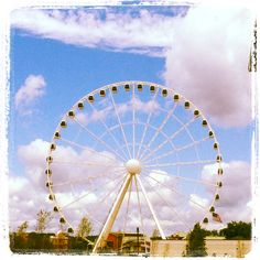 The Great Smoky Mountains Wheel at The Island in Pigeon Forge. Just opened up last month.
