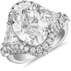 Blue Nile Bella Vaughan for Blue Nile Sienna Trillion Oval Diamond... (2 395 470 UAH) ❤ liked on Polyvore featuring jewelry, rings, oval cut diamond ring, oval engagement rings, blue nile jewelry, engagement rings and oval stone ring