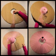 DIY Tulle PomPom This would be cute to take the stuff to make them to Mexico for my nieces there!
