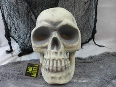 Halloween Skull Prop Decoration Huge Light Up Eye Indoor Out Door New #NantucketDestributing