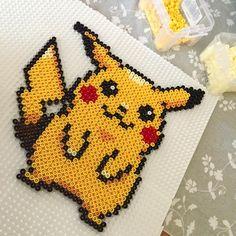 Pikachu hama beads by cathyk_photo
