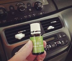 Use YL essential oils and cotton balls to make your car smell amazing.