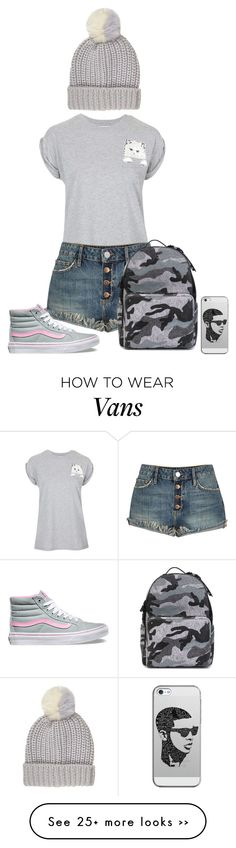 """""""Untitled #256"""" by dollbby on Polyvore featuring Tee and Cake, River Island, Vans, Valentino and Casetify"""