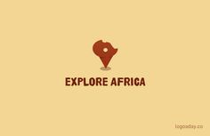 #54 Explore Africa | Logo a Day African Impact, African Logo, Africa Outline, Africa Tattoos, 100 Logo, Unique Logo, Travel Aesthetic, Logo Inspiration, Safari