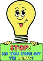 "Conserve Energy Craft -""Turn Off the Lights"" Door Hanger Earth Day Project for Kids"