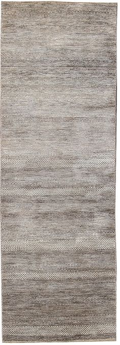 Contemporary 2 x 10 Indian Runner rug in a Grey,brown background.,$1,800.00